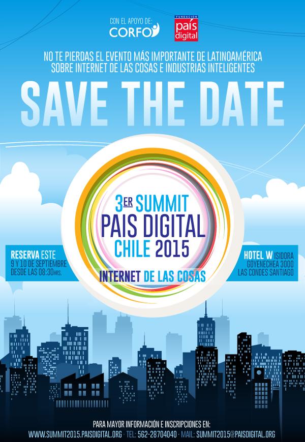 """No te pierdas la 3° versión Summit País Digital 2015: """"Internet de las Cosas"""""""