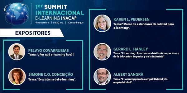 Pelayo Covarrubias expone en 1er Summit Internacional E-Learning de INACAP