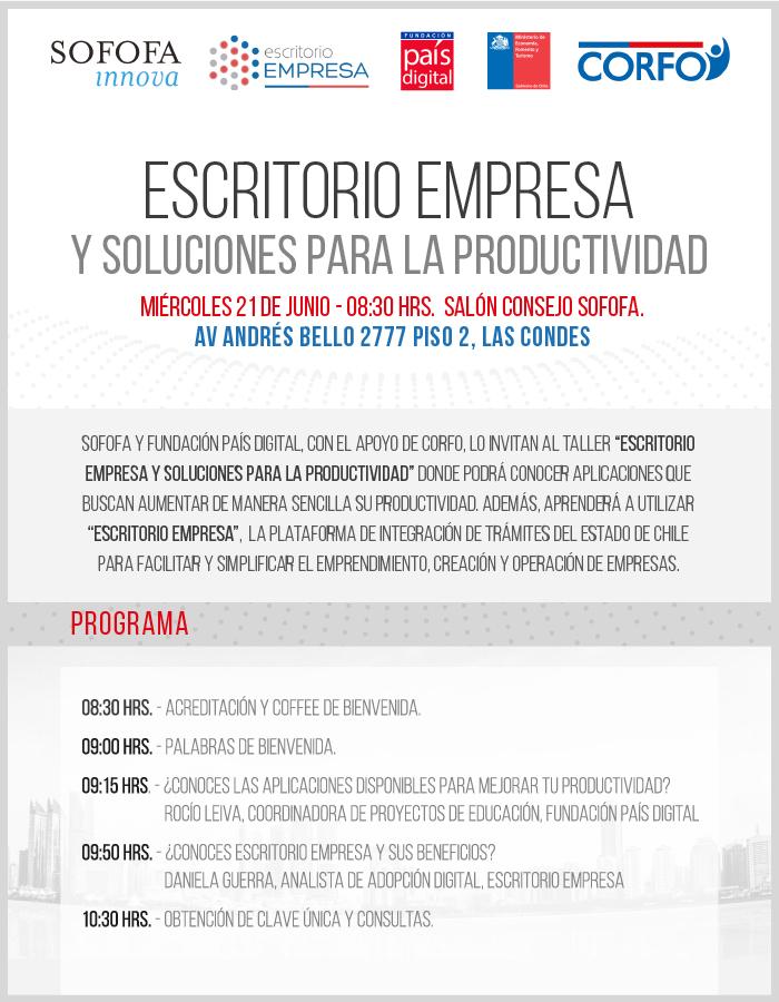 """País Digital invita a talleres gratuitos """"Escritorio Empresa y Soluciones para la Productividad"""""""