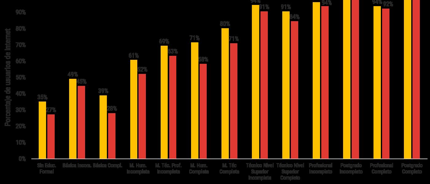 El factor educacional es el más determinante en el uso de internet en Chile