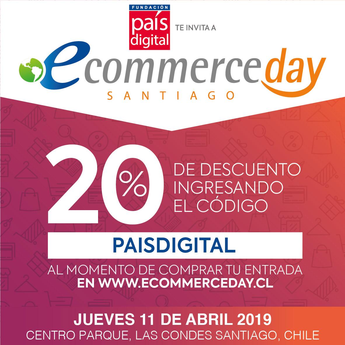 Próximo 11 de abril se realizará el eCommerce Day Santiago 2019